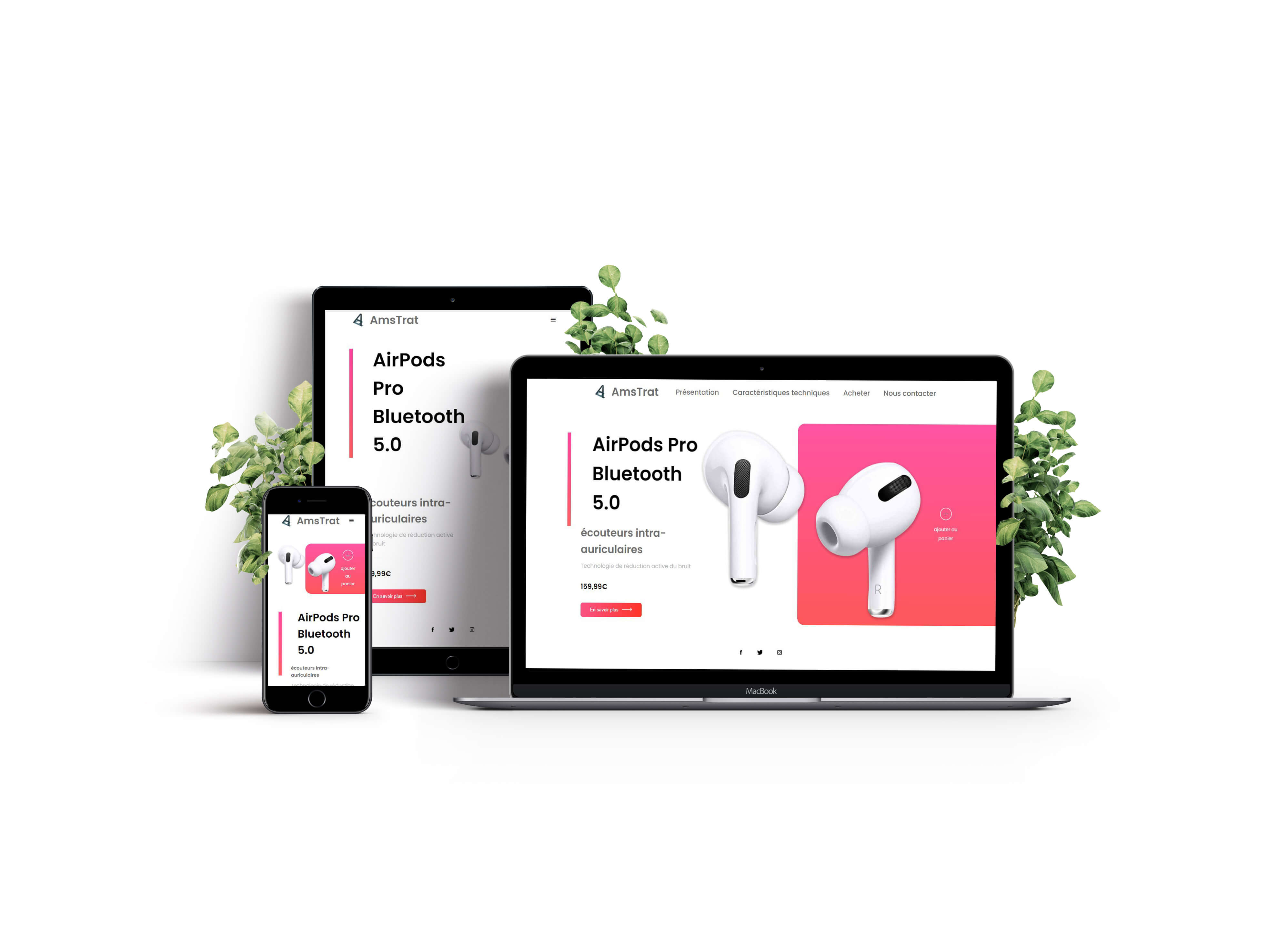 html css airpods